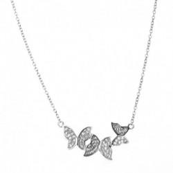 Collier Trois papillons Argent 925/1000 Oxyde de Zirconium